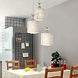 Style home Pendelleuchte Hängelampe Weiß 3-flammig E27 ohne Leuchtmittel PG9001-3D