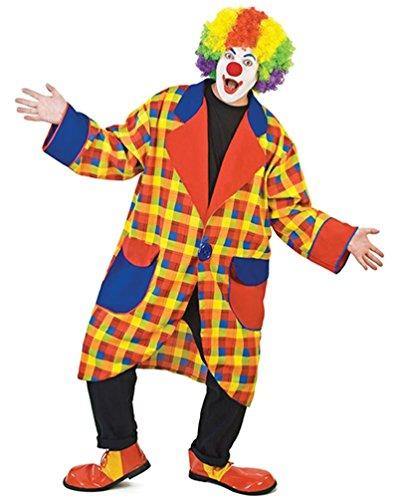 ,Karneval Klamotten' Kostüm Clown Clownmantel Bobo Herrenkostüm Karneval Fasching Größe (Erwachsene Für Zirkus Clown Kostüme)