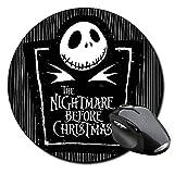 Pesadilla Antes De Navidad The Nightmare Before Christmas Tim Burton C Tapis De Souris Ronde Round Mousepad PC