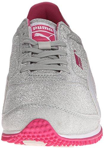 Puma Steeple Glitz AOG Synthetik Turnschuhe Puma Silver-White-Purple