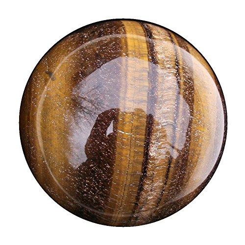 Preisvergleich Produktbild Green Cross Toad Tiger Eye Kristall Ball Zukunft,  und Wahrsagung Edelstein Bereich,  58 mm,  270 g (TE5 Gepäckspanner)