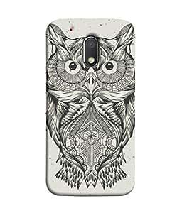 Moto G Play (4th Gen), Motorola Moto G4 Play Back Cover Decorative Owl Art Design From FUSON