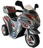 Toyas Kindermotorrad Elektromotorrad Kinder Polizei Motorrad in Grau Neu