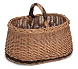 Prestige Natural Wicker Willow Basket with Handle