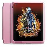 Apple iPad 4 Smart Case rosa Hülle mit Ständer Schutzhülle Feuerwehrmann Feuerwehr Firefighter