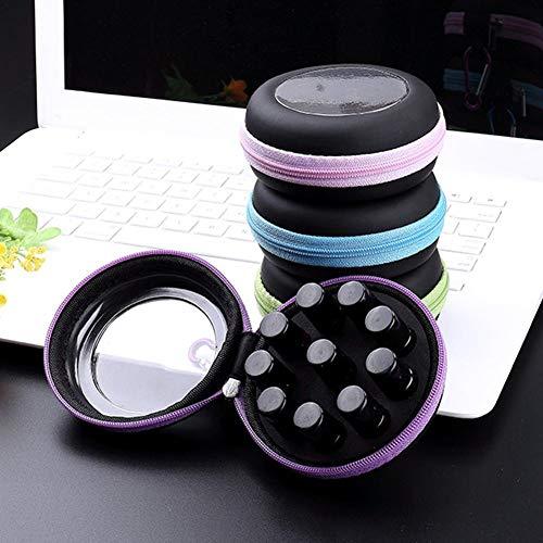 Sue Supply Boîte de Rangement Portable pour huiles essentielles 10 Compartiments de Votre boîte 2.5ML