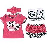 ARAUS Recién Nacido Ropa Trajes Bebé Niñas Niños Escalada Pelele Jumpsuits 4 Pieces Outfits 0-18Meses