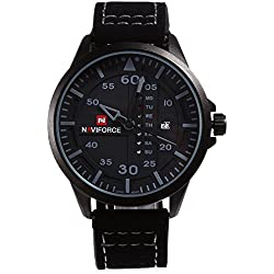 Leopard Shop naviforce nf9074m Stecker Quarzuhr Tag Datum Display Wasser Widerstand PU Band Armbanduhr