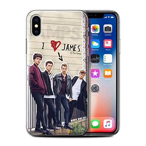 Offiziell The Vamps Hülle / Case für Apple iPhone X/10 / Band Muster / The Vamps Geheimes Tagebuch Kollektion James