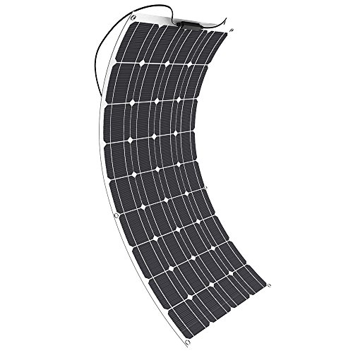 Preisvergleich Produktbild GIARIDE 100W 18V 12V Solarmodul Solarpanel Monokristallin Solarzelle Photovoltaik Solarladegerät Solaranlage Flexibel mit MC4 Ladekabel für Wohnmobil, Auto, Boot 12V Batterien