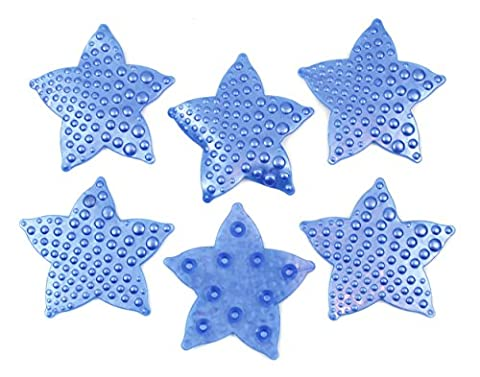 6 Stück Antirutsch Pads Sticker f. Bad u. Dusche Antibakteriell / Seesterne 2960