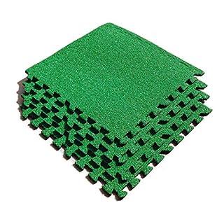 Asc Kunstrasen Fliesen - Eva Fliesen mit Kunstrasen Stil Abdecken - Fußball Zimmer - Putting Grün Etc - 4Pk - 9 Fuß Quadrat