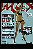 MAX 108 N° 108 NUMERO COLLECTOR 10 ANS 1988 & 1998 BEATRICE DALLE ADRIANA LIMA PHOTOS ELLEN VON UNWERTH CAMERON DIAZ