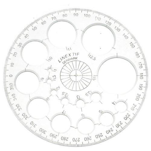 Linex Radiusschablone 71F 360° 115 mm Durchmesser mit Kreisschablone