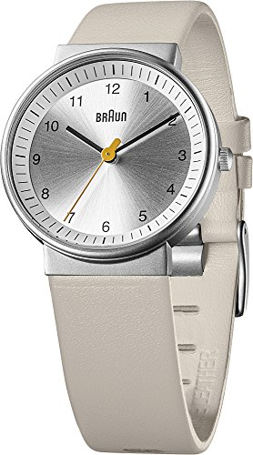 Braun Unisex Analogue Watch with White Dial Analogue Display - 66567