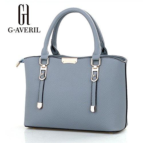 (G-AVERIL) Borse a Spalla e tracolla eleganza elegante Moda Donna grigio