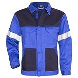 KERMEN - Arbeits-Jacke Dresden Bundjacke Reflex-Streifen, Warnschutzbekleidung - Kornblau 54