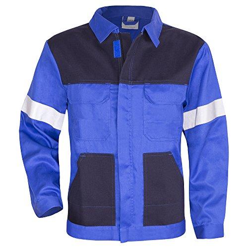 Kermen - Arbeits-Jacke Dresden Bundjacke Reflex-Streifen, Warnschutzbekleidung - Kornblau 48