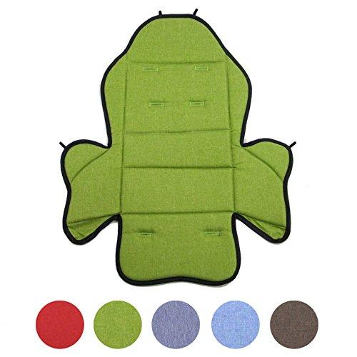 BAMBINIWELT Ersatzbezug, Sitzkissen, Bezug für Fahrradsitz, Modell RÖMER JOCKEY (Modell 2, meliert) (grün meliert)