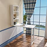 LQQGXLPortabler Klapptisch Klappbarer Wandtisch, Tisch aus Massivholz, kreativer Computerschreibtisch, kleiner Esstisch, Schreibtisch