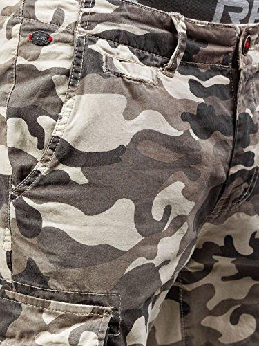 BOLF Herren Short Kurzhose Bermuda Hose Army Motiv Military Casual 7G7 Camo Beige_4342