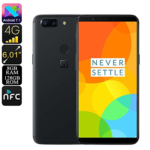 Oneplus 5T 8GB+128GB - Snapdragon ™ 835 Octa Core - 4G - Dual Camera - 20+16MP Black
