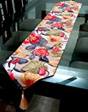#5: Decorika Pretty Floral Print Ribbed Cotton Table Runner - 2mts x 30cms