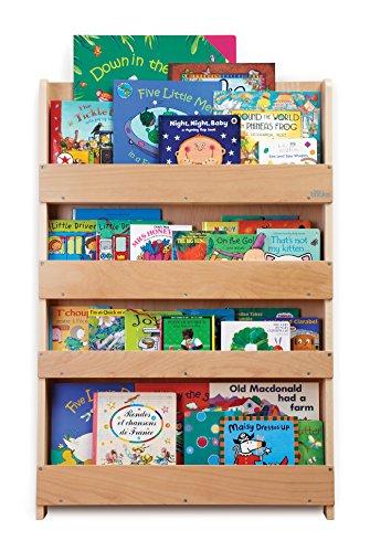 Tidy books bc-cnl, libreria a muro per bambini, in legno ecologico, 115 x 77 x 7 cm, fatto a mano