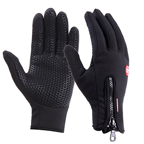UPhitnis Winter Fahrradhandschuhe für Herren Damen - Outdoor Winddicht Touchscreen Handschuhe - Winterhandschuhe für Lauf Radfahren Jagd Sports, S