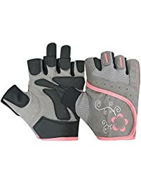 UNISEX GRIP PADDED CYCLE GLOVES CYCLING GYM BIKE TRAINING FITNESS ALL SPORTS