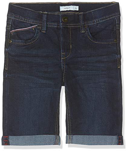 NAME IT Jungen NKMSOFUS DNMBAMIR 3205 Long Shorts, Blau (Dark Blue Denim), (Herstellergröße: 128) Long Blue Denim