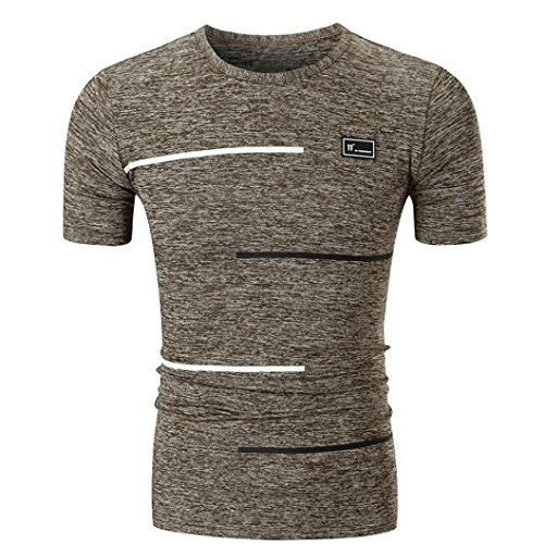 Männer T-Shirt Camouflage-Druck mit Rundhalsausschnitt ❤️Brief Gedruckt Herren ComfortSoft T-Shirt Bleib verstopft Rundhalsausschnitt O Neck Pullover Klassisches Jersey T-Shirt (Khaki, 2XL)