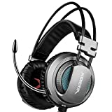 XIBERIA V10 Gaming Headset Surround Sound Gaming Headset, Over-Ear Kopfhörer mit einklappbarem Mikrofon