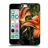 Head Case Designs Offizielle PLdesign Orangen Gelbe Feuer Lilie Blumen Und Blaetter Ruckseite Hülle für iPhone 5c