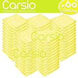 Carsio (x60 Pack, Yellow) all-Purpose Washable Microfiber Cleaning - Best Reviews Guide