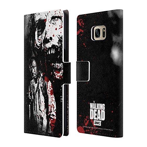 Ufficiale AMC The Walking Dead Morgan E Lurker Sangue Cover a portafoglio in pelle per Samsung Galaxy S7 edge