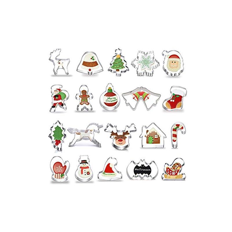 Anokay 20tlg Fondant Ausstecher Ausstechformen Weihnachtsausstechformen Set Aus Edelstahl Keksausstecher Pltzchen Ausstecher Weihnachten Fr Motivtorten Tortendeko Kekse Backen Kche Zubehr