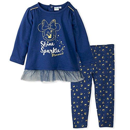Baby Mädchen Set ~ Tunika + Legging in blau/Gold Gr. 74,80,86,92 Größe 92 ()