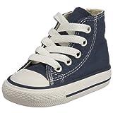 Converse Unisex-bambino Chuck Taylor All Star Core scarpe da ginnastica alte - Tela, Blu navy, 19EU