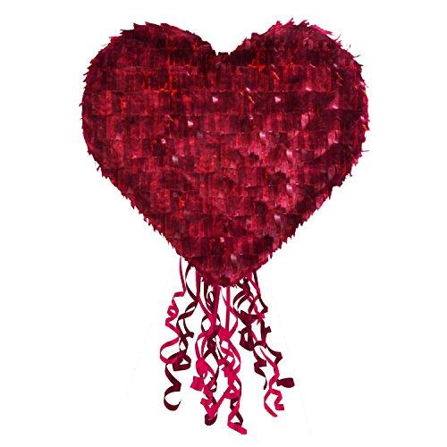 Amscan 9903122 Pinata Herz Spielzeug, Mehrfarbig