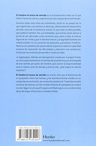 Resumen del libro de Viktor Frankl EL HOMBRE EN BUSCA DE SENTIDO
