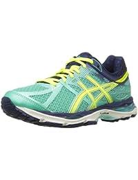 Zapatillas para correr Gel-cumulus 17 para mujer, Aqua Mint / Flash Yellow / Navy, 6 M US