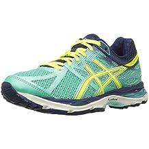 Asics Gel-cumulus 17 Estrechos Fibra sintética Zapato para Correr, Aqua Mint-Flash Yellow-Navy, 38