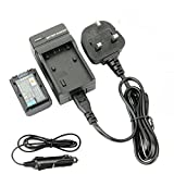 DSTE Spare Battery and Travel Charger Kit for Sony NP-FH50 DSLR-A230 DSLR-A290 DSLR-A330 DSLR-A380 DSLR-A390 DSC-HX1 DSC-HX100V DSC-HX200V HDR-TG5V HDR-TG1E HDR-TG3 HDR-TG5 HDR-TG7 Digital Camera