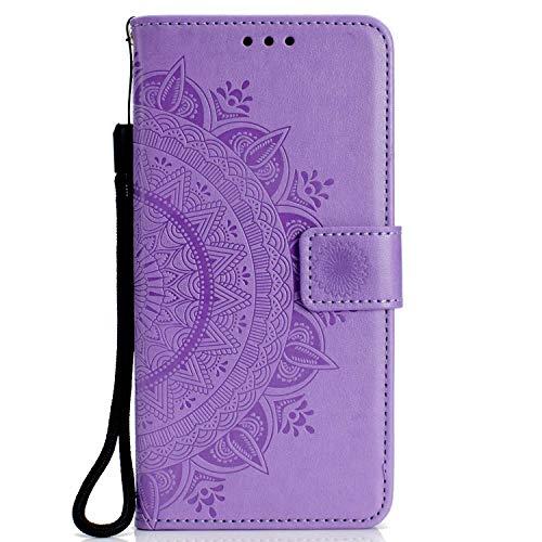 de0c4b6c8c3847 DENDICO Cover Huawei Honor 10, Ultra Slim Pelle PU Custodia Stand Flip  Antiurto Caso con
