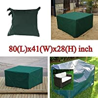 Bluelover 205x104x71cm Garden Outdoor Furniture Waterproof Breathable Dust Cover Table Shelter