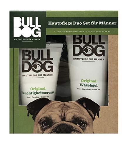 Bulldog Skincare Hautpflege Duo Set für Männer 1 Feuchtigkeitscreme 100ml, 1 Waschgel 150ml - Geschenkset