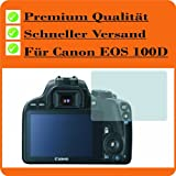 2x Entspiegelnde Displayschutzfolie Bildschirmschutzfolie von 4ProTec für Canon EOS 100D - Nahezu blendfreie Antireflexfolie