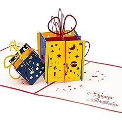 3D Geburtstagskarte Happy Birthday mit 2 Geschenken 3D Pop up, handgefertigt, Grußkarte, Glückwunsch Karte, Grußkarten, Glückwunschkarten, Geschenkkarte, Karte zum Geburtstag