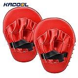 KACOOL Guanti da passata in PU per Boxe Kamfsport pastiglie boxe kickboxing artigli boxe, 1 coppia